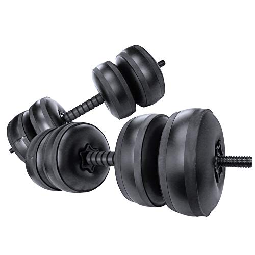 Travel Weights Water Filled Dumbbells Set for Man & Women, Adjustable...