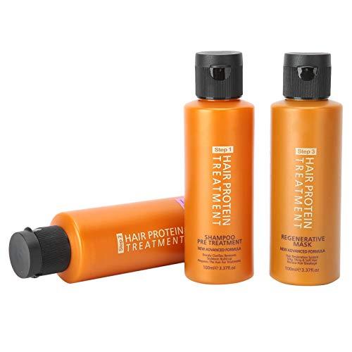 Repair frizz treatment conditioner, 100ML shampoo + 100ML hair conditioner + 100ML hair mask, intensive treatment repairing hair mask for damaged hair