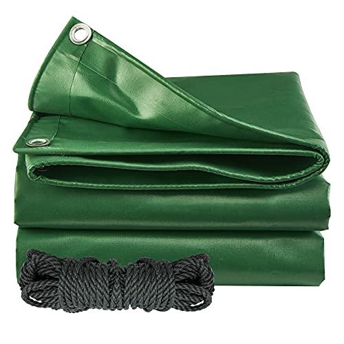 YAOBLUESEA Lona de protección impermeable para barcos, 2 x 3 m, 650 g/m², con ojales de acero inoxidable, para camiones, piscinas, muebles de jardín, cubierta de tejido