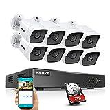 ANNKE 8CH 5MP Überwachungskamera Set mit 8X 5MP Wetterfest IP67 IP Kamera und 8CH 2TB HDD H.265+...