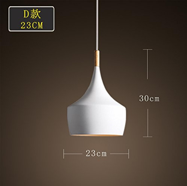 Luckyfree Einfache, moderne Pendelleuchte Zimmer Bar Cafe Restaurant Küche Flur Lampen Deckenleuchte Kronleuchter, D Wei 23 Cm