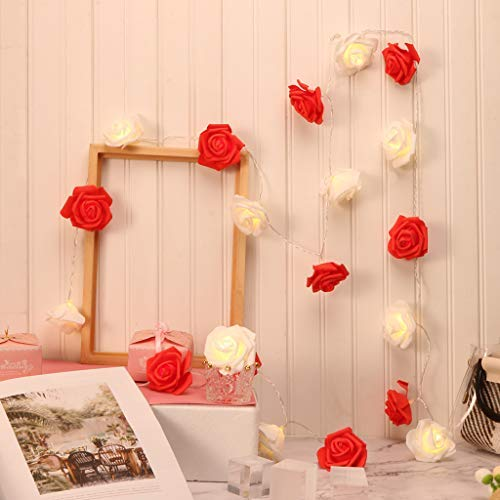 LED Lights Accessories Onsales LED Rose Lamp String Ins Girl Bedroom Fresh Decoration Advertising Light String Color Red Kitchen Bathroom Bar Halloween Decorations Gifts