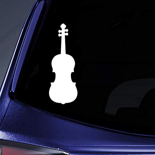 "Bargain Max Decals Violin Silhouette Sticker Decal Notebook Car Laptop 5.5"" (White)"