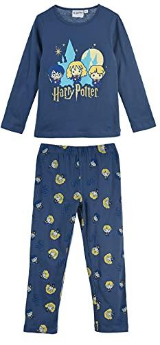HARRY POTTER Niñas Pijama Largo (Azul Marino,6 años)
