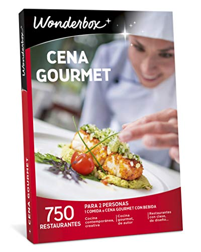 WONDERBOX Caja Regalo -Cena Gourmet- 750 restaurantes únicos para Dos Personas