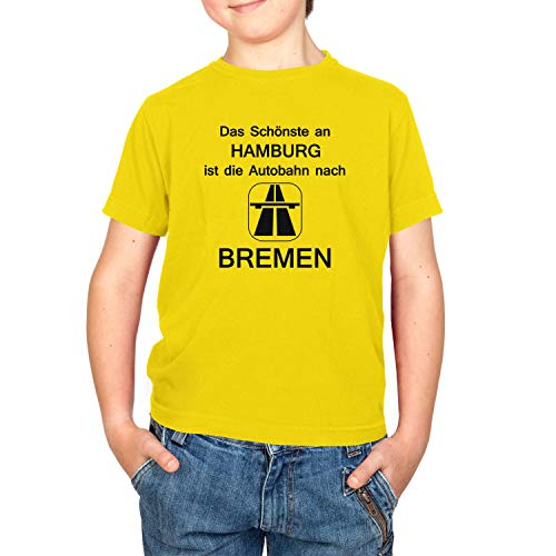 Texlab Kinder Das Schönste an Hamburg T-Shirt, Gelb, L
