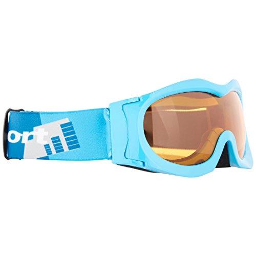 Ultrasport Masque de ski pour enfant avec écran antibuée, bleu clair/bleu/orange