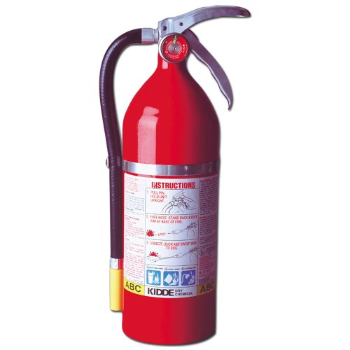 Kidde 468001 Pro Plus 5 Fire Extinguisher, UL Rated 3-A, 40BC, Red