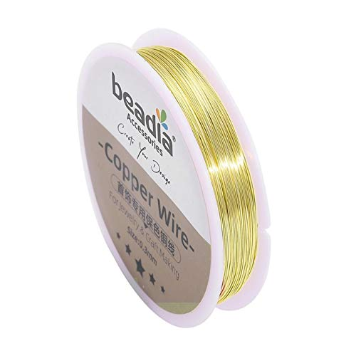 Cable de Abalorios 0.3-0.8mm Plata/de Oro Cable de Alambre de Alambre de Alambre Cadena Colorfast Beading Wirle Metal Hilo for la Pulsera de Bricolaje Collar Artesanal
