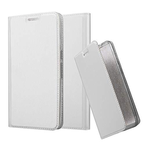 Cadorabo Hülle für Huawei Nexus 6P in Classy Silber - Handyhülle mit Magnetverschluss, Standfunktion & Kartenfach - Hülle Cover Schutzhülle Etui Tasche Book Klapp Style