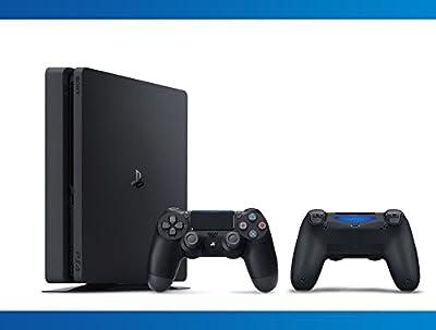 Playstation Slim 1TB Console + DualShock 4 Wireless Controller Jet Black Bundle ( 2 - Items )
