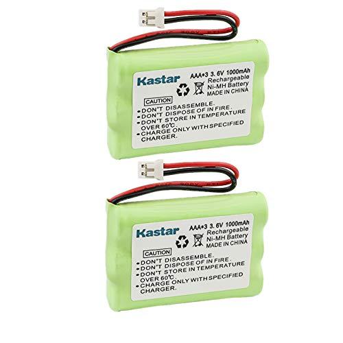Kastar 2-Pack AAAx3 3.6V PH 1000mAh Ni-MH Battery for Motorola MBP33, MBP36 MBP36PU Baby Monitor, TFL3X44AAA900 CB94-01A and Graco 2795DIG1, 2791, 2796VIB1, TMK NI-MH, iMonitor Vibe