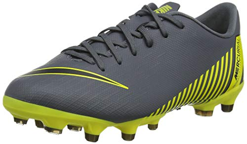 Nike Vapor 12 Academy GS MG, Scarpe da Calcio, Grigio (Dark Grey/Black-Dark Grey), 36 EU
