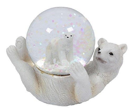 Glitzerkugel Eisbär Schneekugel Tier Tiere Eisbären Schneekugeln