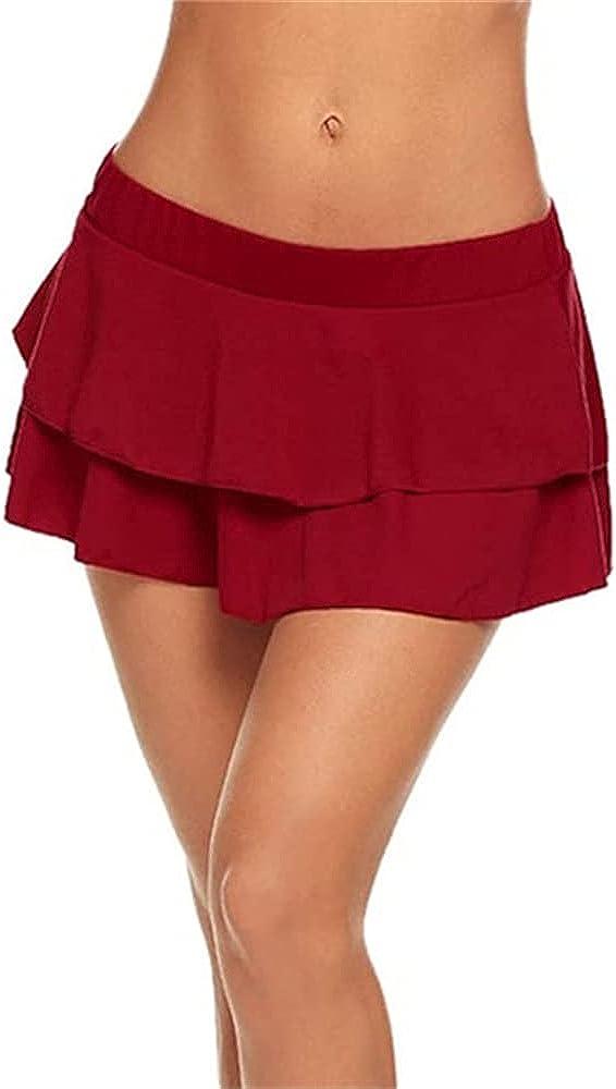 NP Summer Pleated Skirt Lady Low-Waisted Lattice Mini Short Skirts Women
