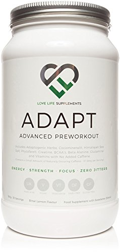 Adapt Advanced Pre-Workout/Adaptogenic Drink by LLS   for Energy, Focus, Mental Clarity, Hydration, Repair and Recovery   Love Life Supplements - 'Live Healthy, Love Life.'