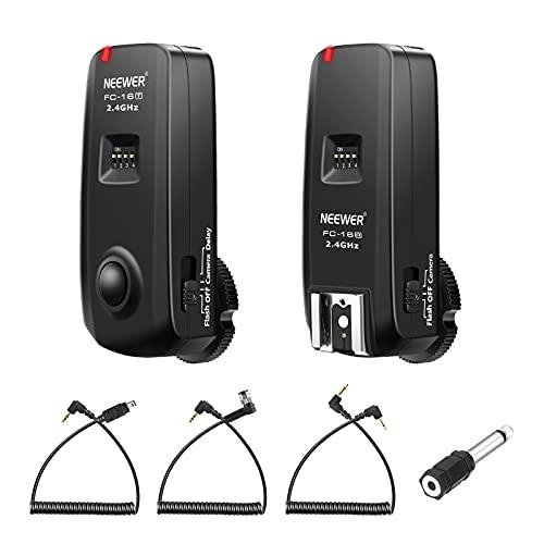 Neewer FC-16 Mehrkanal 2.4GHz 3-IN-1 Wireless Blitz Studio Blitzauslöser mit Fernauslöser für Nikon D7100 D7000 D5100 D5000 D3200 D3100 D600 D90 D800E...