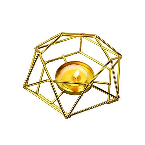 GUOXIANG Schmiedeeiserne Kerzenhalter Teelichthalter Gold Kerzenhalter Kreative Valentinstag Metall Hohl Kerzenständer Deko für Weihnachten Hochzeit Home Couchtische Dekor