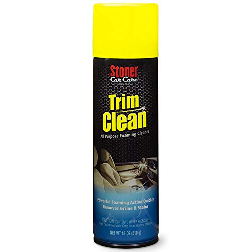 Stoner Car Care 91134 18-Ounce Trim Cleaner Fast Acting Foaming Cleaner Quickly Removes Grime and Stains To Restore Automotive Interiors, Pack of 1