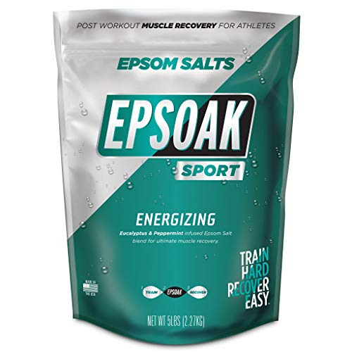 Epsoak Sport Epsom Salt for Athletes - 5 lbs. Energizing Therapeutic soak with Eucalyptus and Peppermint Essential Oils…