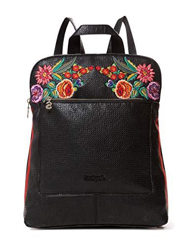 Desigual - Bag Mex Nanaimo Women, Bolsos mochila Mujer, Negro, 11x35x28 cm (B x H T)