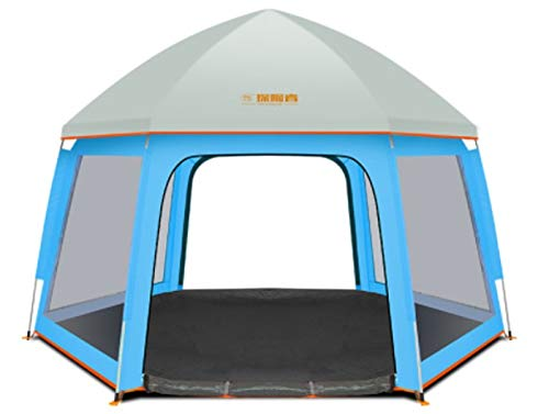 Kids Playpen - Pop-Up Indoor & Outdoor Kids Play Tents, Foldable and Compact Safety Baby Playard Fence with UV Canopy Ideal for Home, Traveling, Park or Beach (Orange)