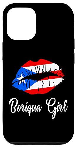 iPhone 12/12 Pro Boriqua Girl - Pride Puerto Rico Boricua Girl Lips Case