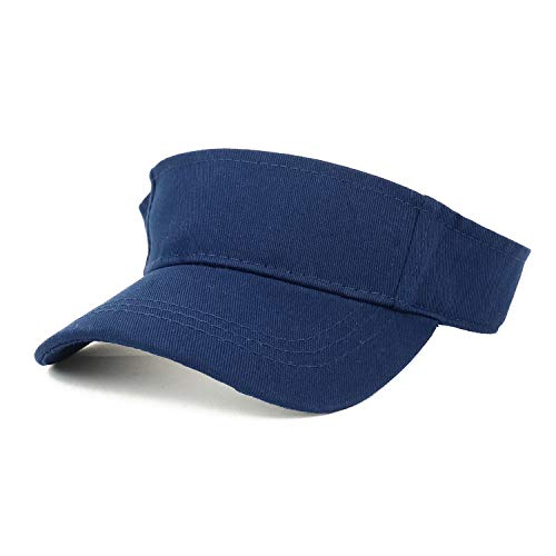 Trendy Apparel Shop Infant Size Adjustable Summer Visor Cap - Navy