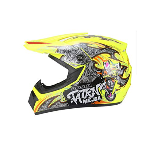 WEIFAN-Protective Gear Casque de Moto Sport Off Road Casques de Moto Dirt Bike ATV Four Seasons Jieke générique (Taille: S) A7