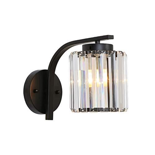 Lámpara de pared Sala de estar lámpara de cristal de la lámpara de pared lámpara de pared retro personalidad dormitorio lámpara de cabecera moderna minimalista ala del balcón de iluminación Lámpara de