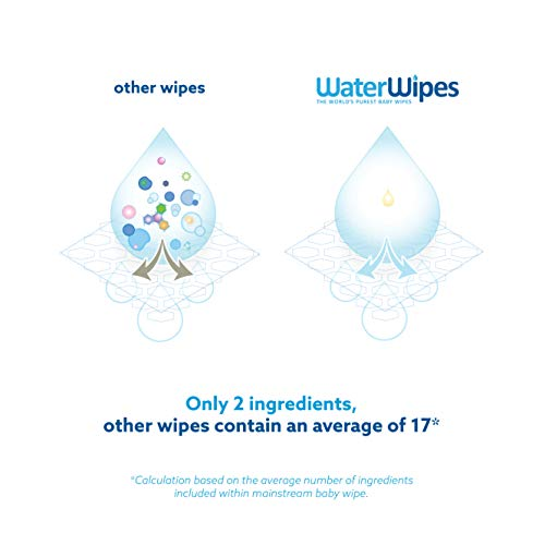 Lingettes bébé pour peaux sensibles WaterWipes, 12 Paquets de 60 (720 Lingettes)