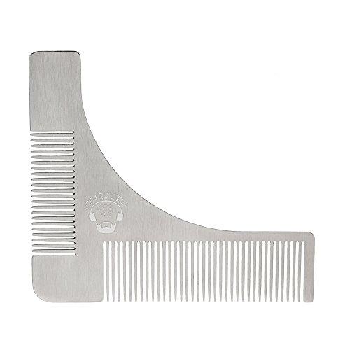 Pochoir à barbe Beardilizer® en acier - Traceur de contours