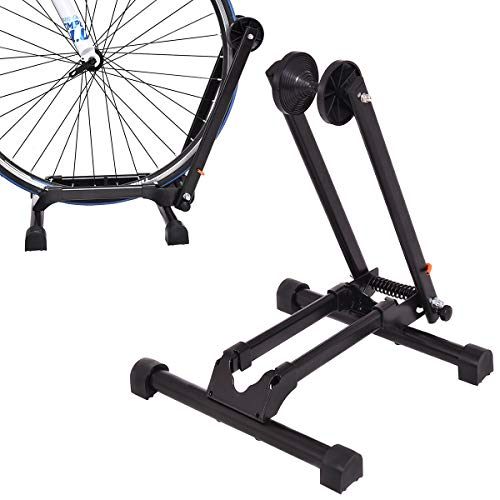 Multigot Folding Bike Storage Holder, Bike Stand for 16'-29' Bikes, Space Saving Bicycle Rack for Indoor and Outdoor