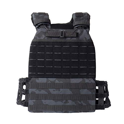 Adjustable Weighted Vest Men and Weighted Vest Women/Endurance & Strength Training - Crossfit Weight Vest - Weight Vest for Running and - Murph Workout - (Urban Dark)