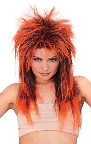 Rockstar Pruik Neon Oranje