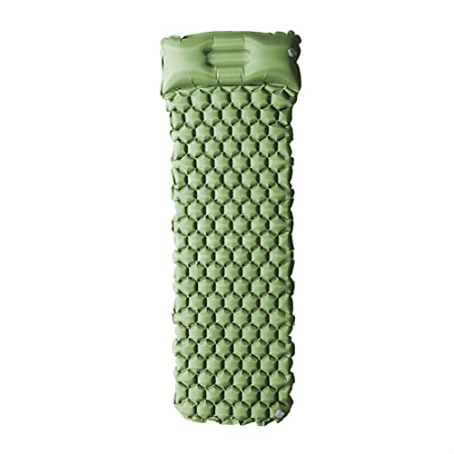 KJGHJ Colchoneta inflable para playa, colchón de pícnic con almohada para saco de dormir, sofá de aire (color verde)