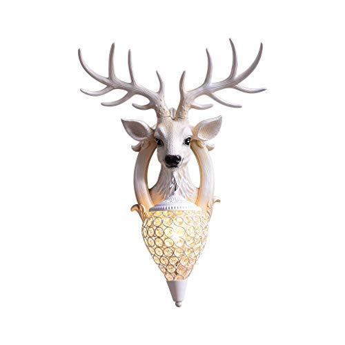Lámpara de Pared Lucky Stag Lámpara de Pared Nordic Living Room TV Fondo Wall Bed Head Personalidad Creativa Deer Head Luces de Pared