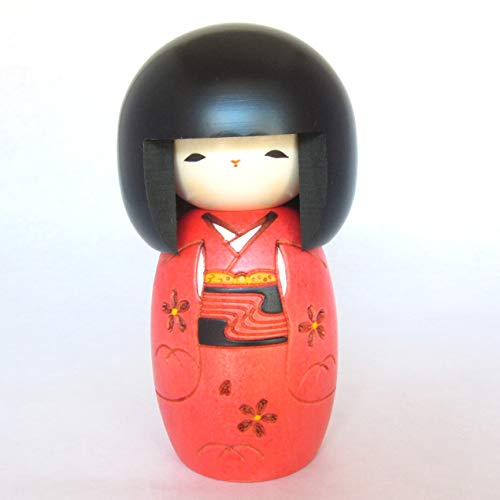 Kokeshi Niña con Kimono, muñecas tradicionales japonesas