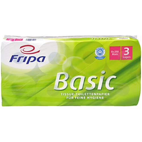 fripa 1510805 Toilettenpapier Basic, 2-lagig, weiß