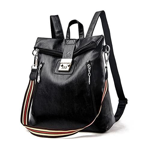 Rucksack Damen Mode Rucksack Umhängetasche 2 In 1 Wasserdichter Schulrucksack Freizeitrucksack Tagesrucksack Anti-Theft Daypack (Schwarz Rucksack Damen)