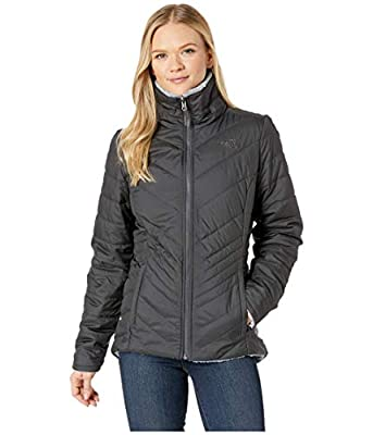 The North Face Women's Mossbud Insulated Reversible Jacket, Asphalt Grey & Mid Grey, Large