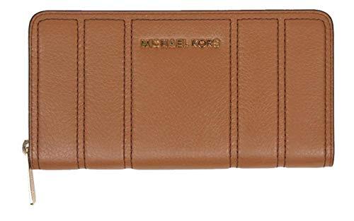 Michael Kors portefeuille/portemonnee - bruin - met ritssluiting - leer