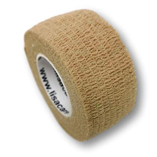 Vendaje de escayola LisaCare®, escayola para dedos autoadhesiva - sin adhesivo ni elástico - vendaje para heridas - 2,5 cm de ancho