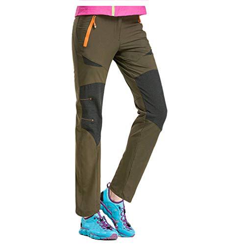 Haobing Adultos Pantalón de Trekking Pantalones de Escalada Ligero Stretch Pantalon Deportivos Senderismo Escalada (Ejercito Verde Mujer, CN M)