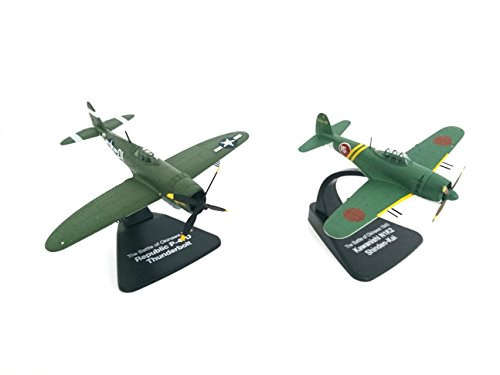 Set of 2 Fighter Planes : Thunderbolt Against SHINDEN Bataille d' Okinawa - ECHELLE 1:72 (ATLAS.023)