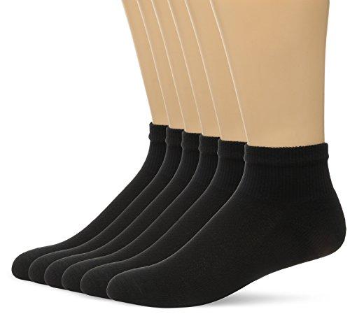 Hanes Men's FreshIQ X-Temp Comfort Cool Vent Ankle Socks, Black, 6-12 (Pack of