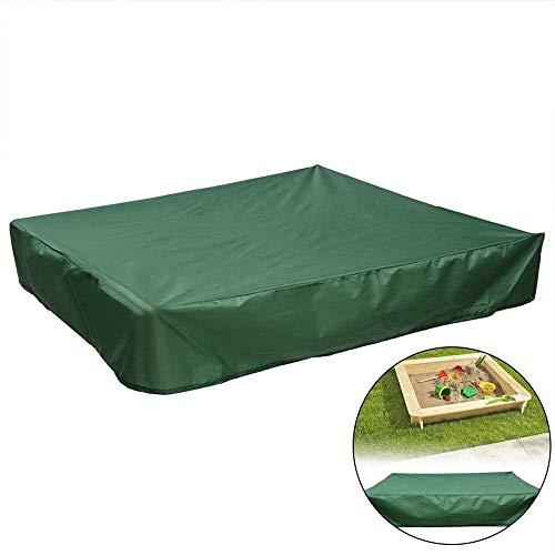 Copertura Quadrata per Sandbox, Sandlock Sandbox Cover Resistente ai Raggi UV Protezione Antipolvere Sandbox Rain Cover,Verde,200X200cm