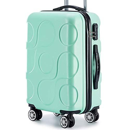 Jolly Espejo de Gran Capacidad Maleta Hembra Estudiante Rueda Universal contraseña embarque pequeño Fresco Hombre Maleta Trolley (Color : Verde)