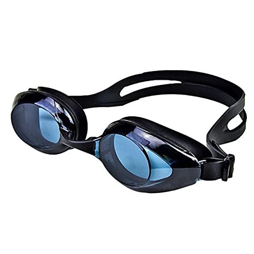 SRXSMGS Gafas natación Gafas de natación Profesional a Prueba de Agua, Anti-Niebla, Anti-Ultravioleta y no Fuga Gafas de natación (Color : Negro)