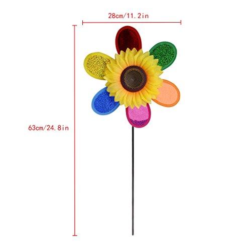 Sac de rangement AXSWER éolienne pour jardin, paillettes, tournesol, moulin à vent, éolienne, décoration de la maison, du jardin, de la cour